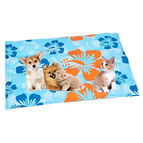 1e16204c16f1 Dog Cooling Mat, Large Pet Cool Mat Dog Cooling Pad with Self Cooling  Gel,Great for Dogs Cats to Stay Cool This Summer(53 * 37Cm)