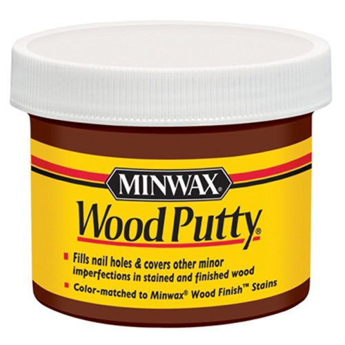 - Minwax 13613000 Wood Putty, 3.75 Ounce, Mahogany