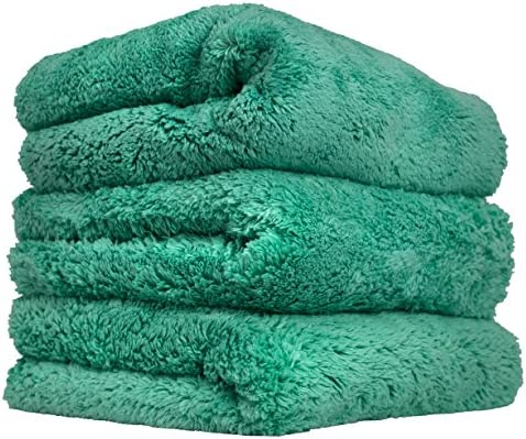 "Chemical Guys Happy Ending Ultra Edgeless Microfiber Towel, Green, (16"" x 16"")"