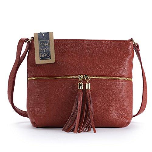 Soldes Oh En À Bag Main My Sac Clair Rouge Cuir London STFSg8qr