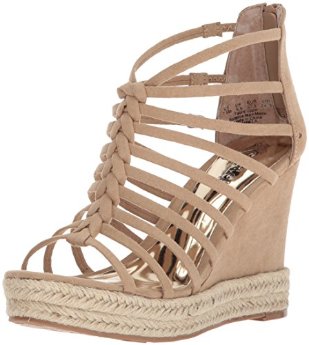 Carlos by Carlos Santana Women's Camilla Wedge Sandal, Sand, 9.5 Medium US