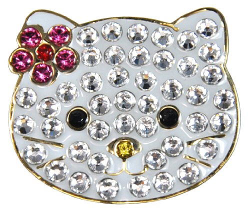 Navika Kitty Swarovski Crystal Ball Marker with Hat Clip ()