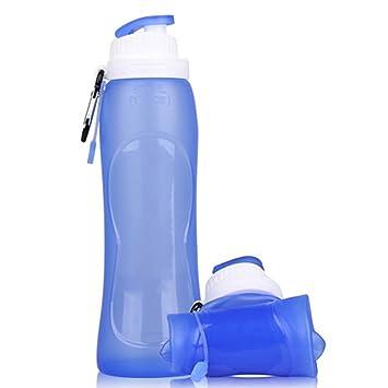 Xixik Botella Plegable 500 ML caño Seguro Botella de Agua Deportes Botella Botella Deportes Bicicleta para