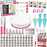 Cakebe Cake Decorating Kit 82-piece with Cake Turntable, Ultimate Cake Decorating Supplies