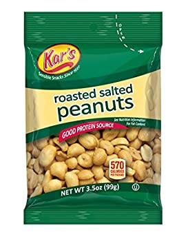 Kar's Nuts Salted Peanuts, 3.5-Ounce Bags (Pack of 42)