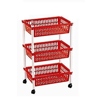 Ducomi - Carro portaobjetos con ruedas, carro con estantes multiusos para organizar los espacios domésticos, ideal para baño, cocina, sala y garaje: ...