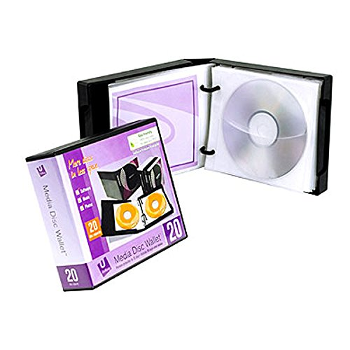 Unikeep Cd / Dvd - UniKeep Disc 20 CD/DVD Wallet with 20 Pages - Pack of 3