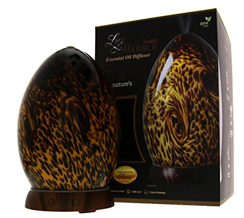 Greenair Feather's Remedy Lux Marble Amber Essential Oil Diffuser #626