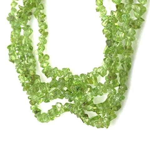 Natural Peridot Tumbled Nuggets Uncut Chips Gemstone Beads, 34 inch Length, Green Color, Jewelry Making, Wholesale Price, Prepared Exclusively by Ratnagarbha. 1 Strand 34 inch Length RBECHIPS-848-01