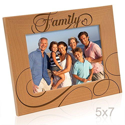 Kate Posh - Family Picture Frame (5x7-Horizontal) (Photo Frame Family)