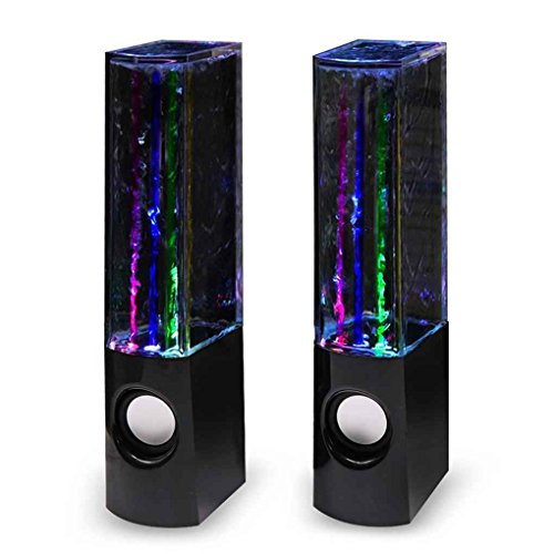 M-Egal Bluetooth Dancing Water Speaker Fountain LED Light Show Wireless Speaker 4 Color Portable Rechargeable 2PCS