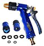 RAAYA GARDEN HOSE NOZZLE Heavy-Duty High-Pressure Flow Control - Equipped with Quick Connectors / Rubber Washer - Convenient Garden Watering and Car Washing - Maximum Satisfaction