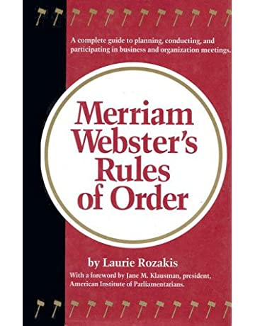 Merriam-Webster's Rules of Order: Laurie Rozakis