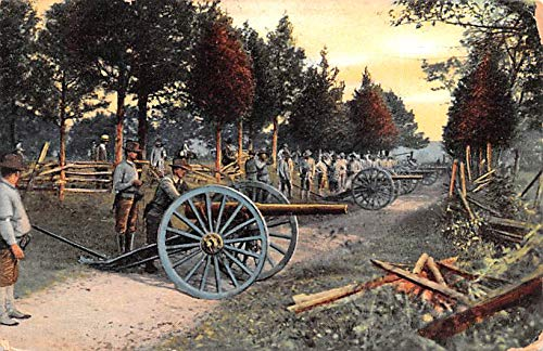 Civil War Post Card Old Vintage Antique Postcard Military with Cannons Postal Used Unknown