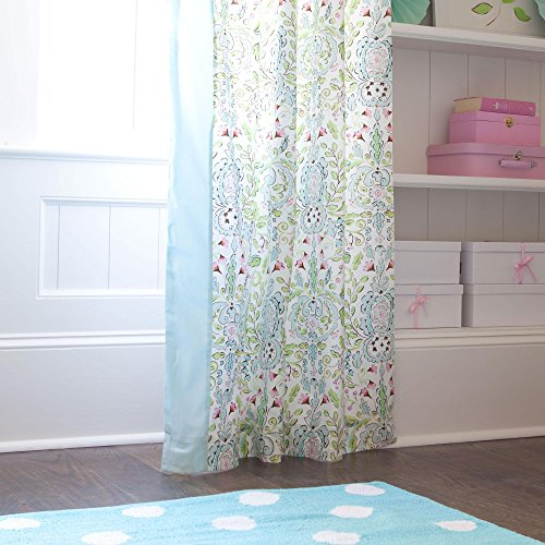 Carousel Designs Bebe Jardin Drape Panel (Set of 2) 64-Inch Length Standard Lining 42-Inch Width by Carousel Designs