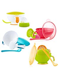 Nuby Garden Fresh Mash N' Feed Bowl with Spoon and Food Masher, Colors May Vary BOBEBE Online Baby Store From New York to Miami and Los Angeles
