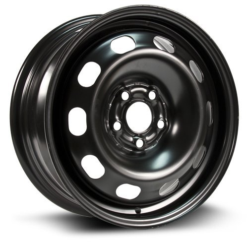 Steel Rim 15X6, 5X100, 57.1, +38, black finish (MULTI FITMENT APPLICATION) X99130N (Toyota Corolla 2007 Rims compare prices)