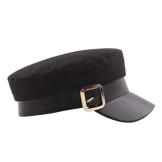 Amazon.com  iDWZA Ladies Womens Girls Wool Blend Baker Boy Peaked Cap  Newsboy Hat  Clothing 77cea93dce41