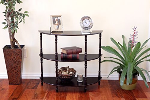 Frenchi Home Furnishing Half Moon Console Table, Espresso