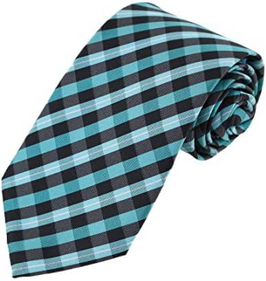 EA-AEG-C.05 Males Microfiber Checkered Dress Dad Neck Ties -3 Sizes Options By Epoint
