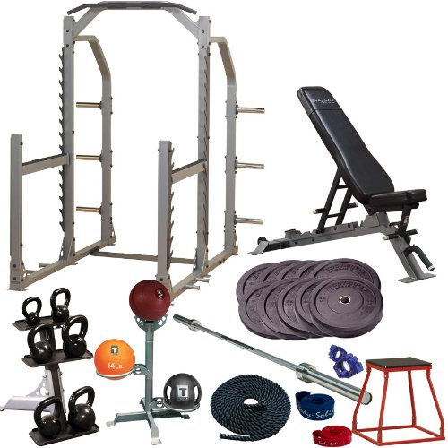 Body solid garage gym cross training studio set gold