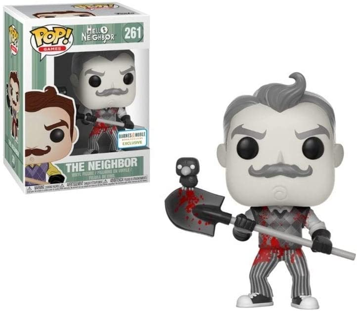 Funko Pop Hello Neighbor 261 The Neighbor Black and White with Blood Exclusive