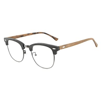 f8af198129 Men Women Glasses - Clear Lens Glasses Frame - Wooden Eyeglasses - hibote   18020703
