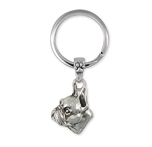 Amazon.com: Boston Terrier Jewelry - Llavero de plata de ley ...