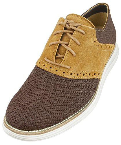 Cole Haan Men's Lunargrand Saddle Oxfords (10, Chestnut/Camello/Ivory) (Cole Haan Lunargrand Chestnut compare prices)