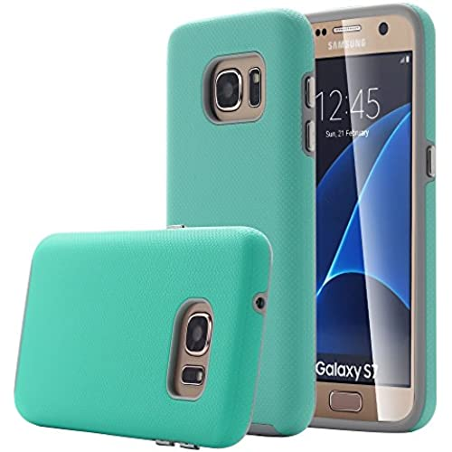 Galaxy S7 Case, Pandawell [Shock Absorbing] [Hard PC + TPU] Dual layer Impact Resistant Hybrid Armor Defender Case Cover for Samsung Galaxy S7 - Mint Green Sales