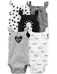 Baby Girls' 5 Pack Bodysuits (Baby) - Navy