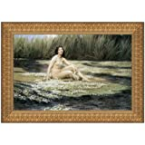Design Toscano The Water Nymph, 1908, Canvas Replica Painting: Large