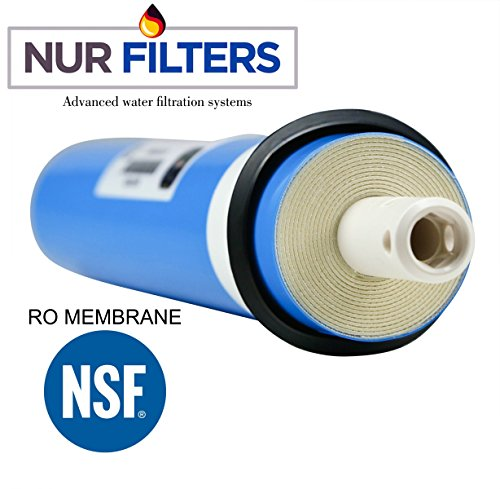 NURFILTER 50GPD RO Reverse Osmosis Filter MEMBRANE REPLACEMENT drinking water filtration system 1812 NSF Universal COMPATIBLE FOR ALMOST ALL 50 Gallon day Filters SYSTEMS ON THE MARKET Purifier Faucet (Membrane Water Reverse Osmosis)