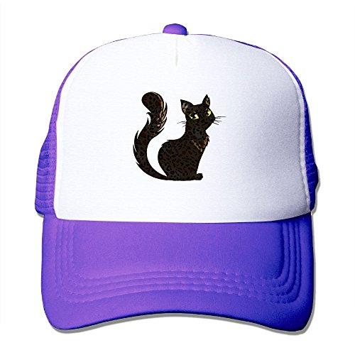Z-YY Black Cat Unisex Mesh Hat Adjustable Sports Baseball Cap (Latest Sheath)