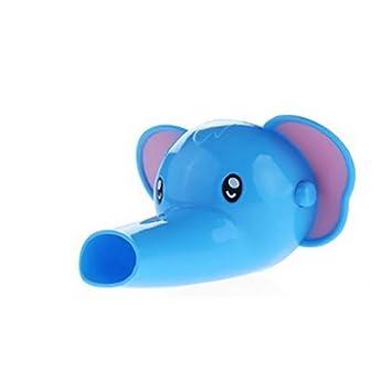 Extensión de grifo de iSuper con forma de animales infantiles (elefante), para bebés y pequeños; accesorios para el cuarto de baño