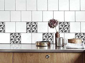 Küche Fliesen Aufkleber Rose Vinyl Film für Badezimmer Wand Fliesen ...