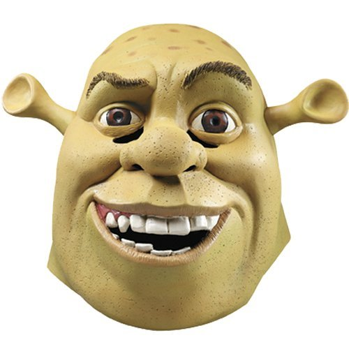 [Deluxe Shrek Mask Costume Accessory] (Deluxe Adult Shrek Costumes Mask)