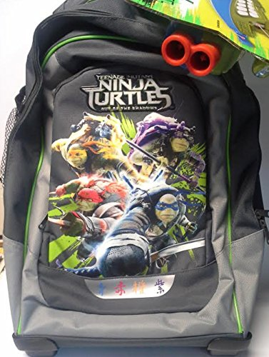 Zaino trolley Ninja Turtles in tessuto poliestere con serigrafie