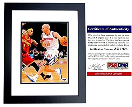 d8661abd809b Jason Kidd Autographed Signed New York Knicks 8x10 Photo Black Custom Frame  - PSA DNA