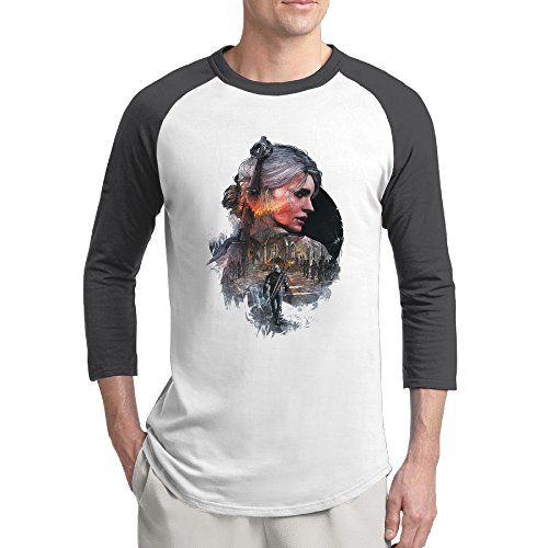 [HGL Men's Wild Game Hunt Poster Tri-Blend 3/4 Sleeve T-Shirt Raglan Size XXL Color Black] (Geralt Witcher 3 Costume)