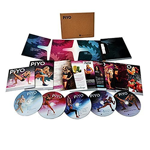 PiYo Base Kit - 5 DVDs Workout with Exercise Videos + Fitness Tools and Nutrition Guide