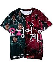 Maisley Squid Game T-shirt 067 218 456 001 Tops Met Korte Mouw Zomerjurk 3D Blouses Casual Mode Voor Mannen en Vrouwen