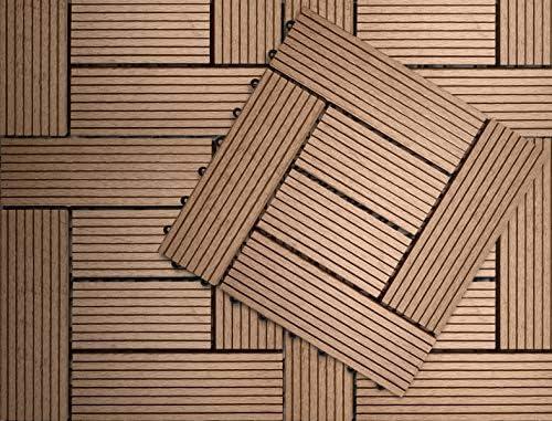 Klicken Baldosa WPC Composite Base plástica para Decks compuestos ...