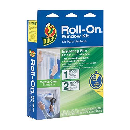 Duck Brand Roll-On Indoor Extra Large Window/Patio Door Premium Insulating Film Kit, 84-Inch x 112-Inch, 285649 (Best Way To Seal Windows For Winter)
