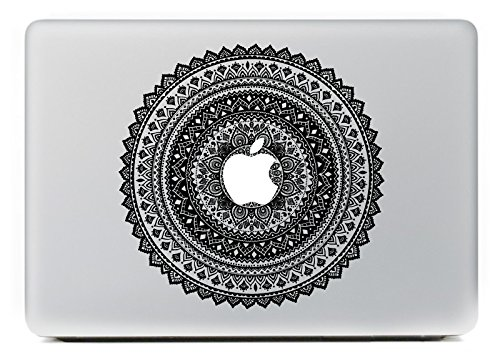 Carry360 Circular Decals Series Removable Vinyl Decal Sticker Skin for Apple Macbook Air 13 15 17 Inch Pro 13 15 17 Inch Retina 13 15 17 Inch(Style 12)