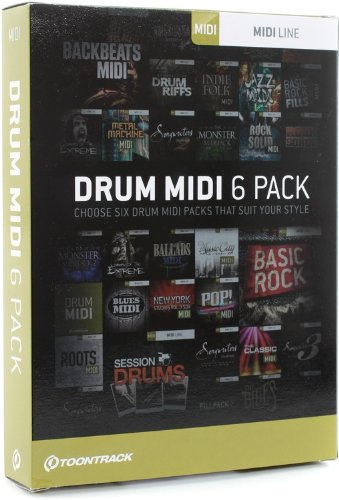 Toontrack Drum MIDI 6-pack Drum Midi Files