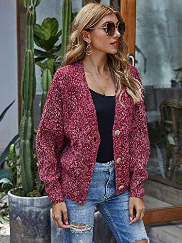 Woolen Bloom Gilet Bouton Cardigan Femme Col V Épais Tricot Gilet Grande Taille Manches Longues Outwear Chic Chaud…