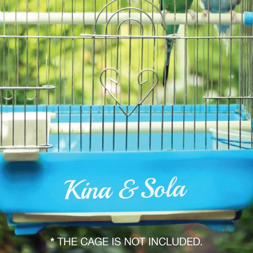 Parrot Cage 4 (CUSTOM BUDGIE PARROT CAGE NAME STICKER Decal Car Vinyl Personalized Text)