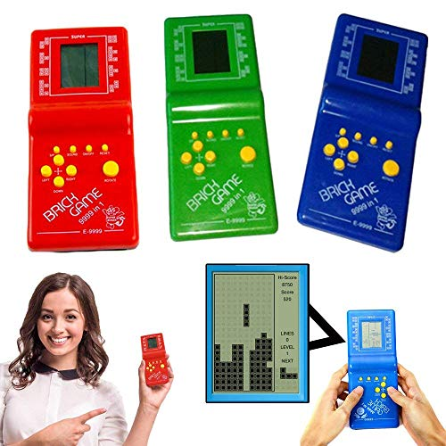 Toy Cubby Retro Classic Electronic Handheld LCD Pocket Toy Tetris Brick Game