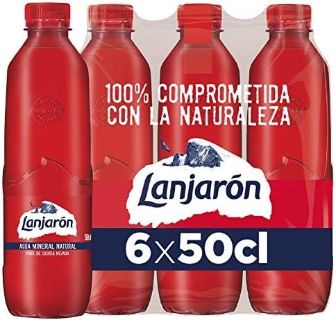 Lanjarón Agua Mineral Natural Sostenible - Pack 6 x 0,5 l: Amazon ...